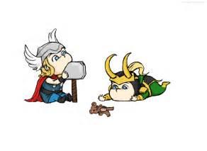 Cute Baby Thor and Loki