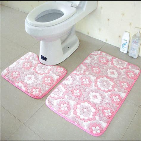 bathroom mat set aliexpress buy 2pcs set anti slip bathroom mat set