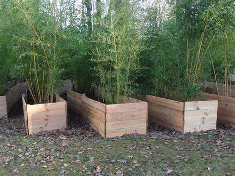 jardiniere bois pour bambou mzaol