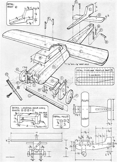 Wooden Airplane Plans • WoodArchivist