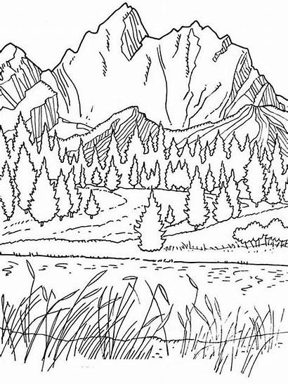 Coloring Scenery Spring Adults Park Colouring Bestcoloringpagesforkids