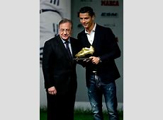 Cristiano Ronaldo Receives 2014 Golden Boot, Wears