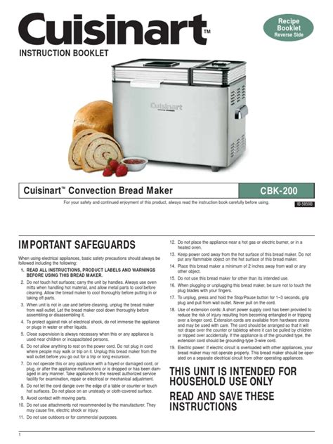 · cuisinart bread maker comes with cool handles, measuring spoons and a measuring cup. Cuisinart Bread Maker Manual | Breads | Dough
