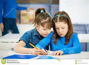 Children Learning At Elementary School Stock Photo - Image ...