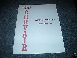 1965 Chevrolet Corvair Wiring Diagram Manual Schematic