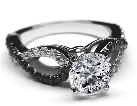 Black & White Diamond Engagement Ring Infinity Diamonds