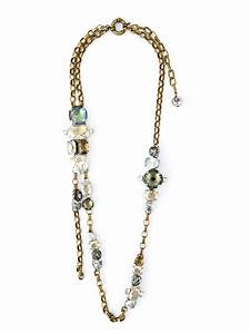 lyst lanvin sautoir necklace in metallic With sautoir
