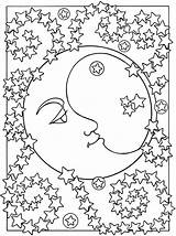 Moon Coloring Pages Printable Pretty sketch template