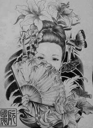 Resultado de imagem para tatuagens gueixa desenhos | Tattoos | Pinterest | Tatouage, Dessin and