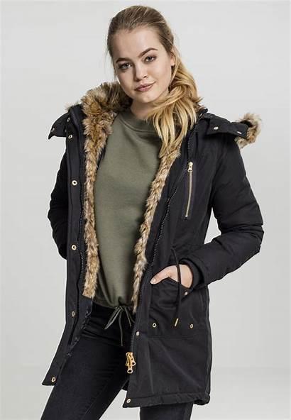Parka Damen Classics Urban Fur Winterjacke Imitation