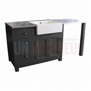 meuble evier avec timbre d39office et emplacement lave With meuble pour encastrer lave vaisselle