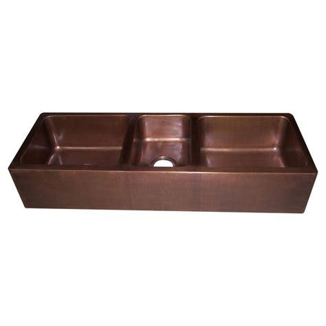 Copper Kitchen Sink Triple Bowl  Copper Sink  Copper Basin