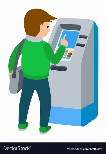 Atm Machine Using Vector Royalty