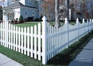 cape cod vinyl picket fence concave