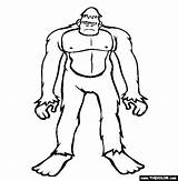 Bigfoot Coloring Pages Sasquatch Cryptids Finding Printable Drawing Draw Outline Colouring Thecolor Monster Drawings Silhouette Popular Sketches Tattoo Coloringhome Comments sketch template