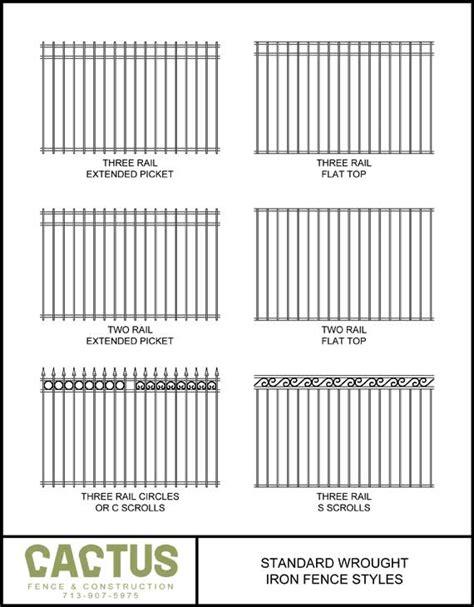 wrought iron fence styles fence styles cactus fence a houston fence company