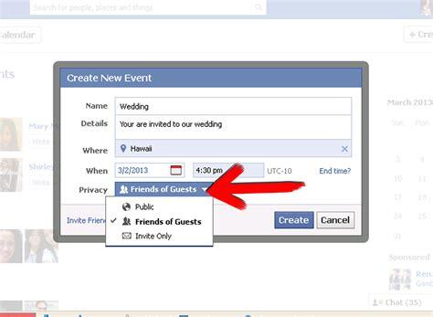 create  marriage invitation  facebook  steps