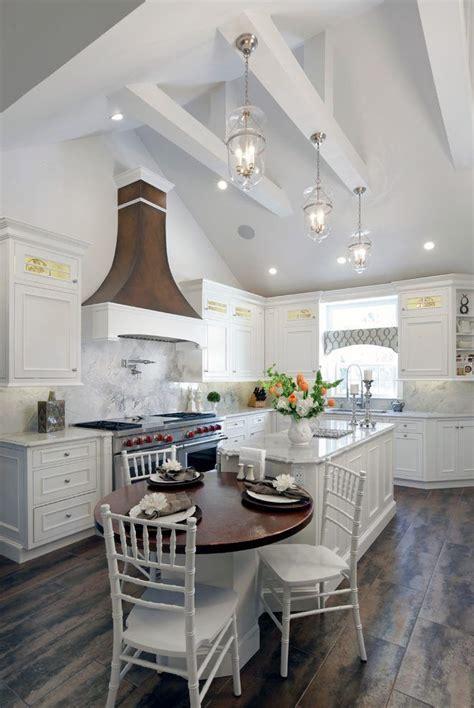 vaulted ceiling ideas farmhouse style ceilingideas ceilingdesign farmhouse kitchen design
