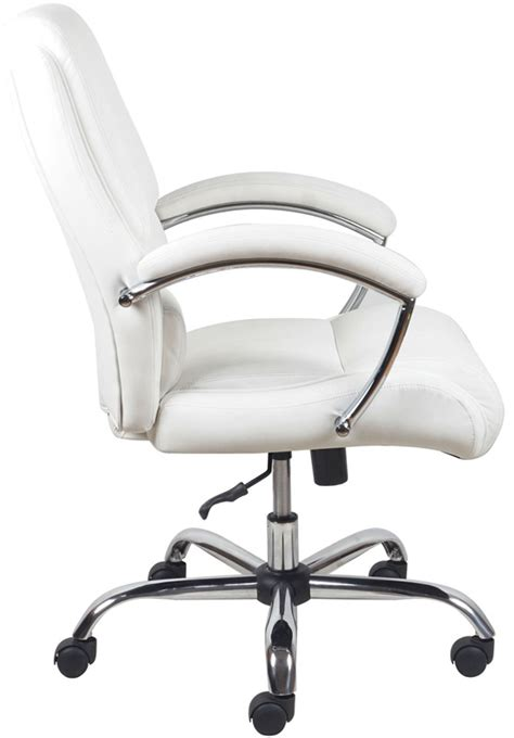 white office chair with arms essentials ergonomic high back leather executive office