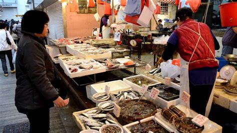 hong kong wan chai  fish market   street chinese food street food youtube