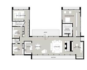 Shipping Container Cabin Floor Plans by U Shaped House Plans With Courtyard Pinteres