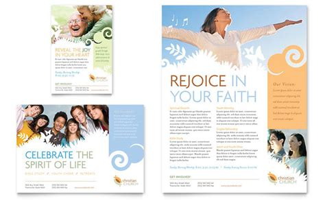 Free Church Brochure Templates by Christian Church Flyer Ad Template Design