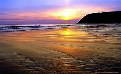 Sunset Desktop Beach Backgrounds Computer Romantic Wallpapersafari