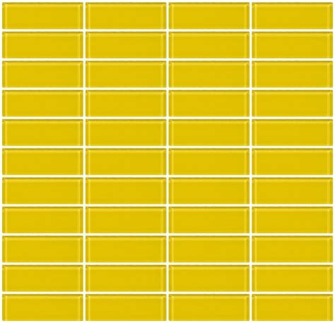 mirror backsplash kitchen glass tile 1x3 inch bright yellow glass subway tile stacked