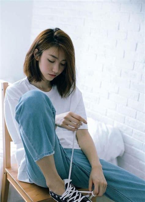 latest cute short white hairstyles  korean girls