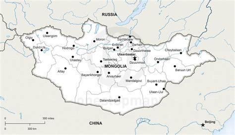 vector map  mongolia political  stop map