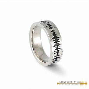 custom soundwave ring sterling silver soundwave jewellery With sound wave wedding ring