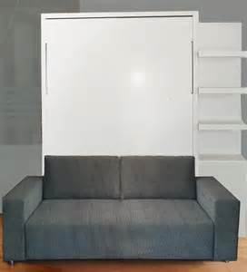 60cm Bookcase by Wall Bed With Sofa Gloss Finish Ultra Light Vancouver