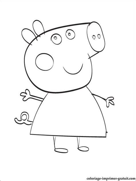 dessins de coloriage peppa pig ecole  imprimer
