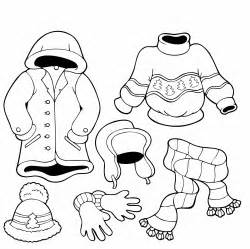 Winter Clothes Coloring Pages for Kids