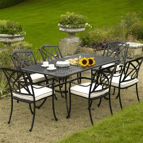 cast aluminium garden furniture for relaxing decorifusta
