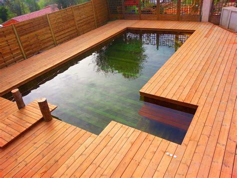 piscine bois avec escalier integre fabricant piscine et spa sur mesure 100 bois 224 toulon var
