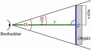 Berechnung Fernseher Abstand : scheinbare gr e wikipedia ~ Frokenaadalensverden.com Haus und Dekorationen