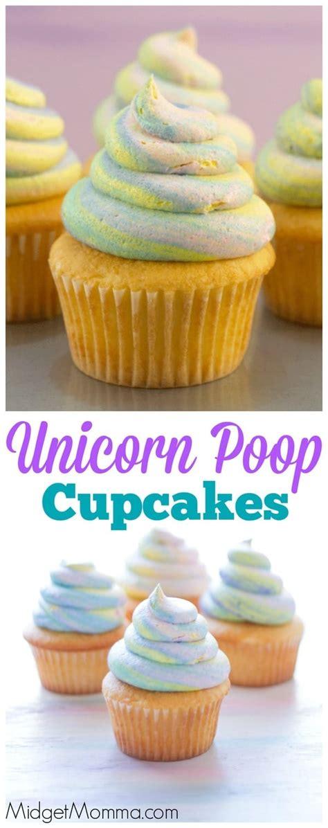 unicorn poop cupcakes  trick   unicorn swirl