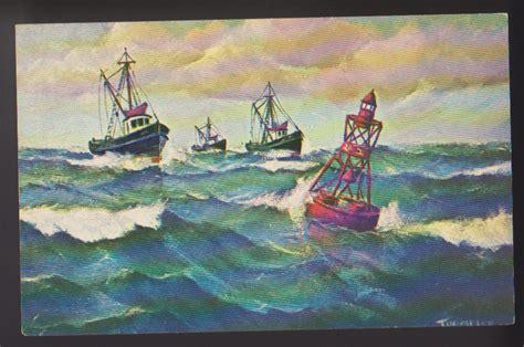 fishing trawlers heading  port george ryan