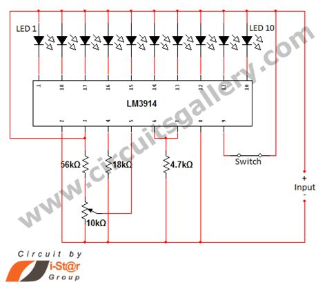 circuits led dot display based battery charge level