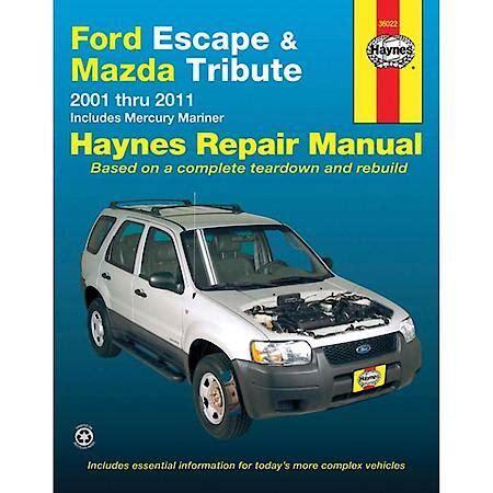 download car manuals pdf free 2010 mazda tribute electronic toll collection haynes ford escape mazda tribute 01 07 repair manual 36022 advance auto parts