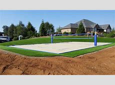 how to build a sand volleyball court in backyard how to
