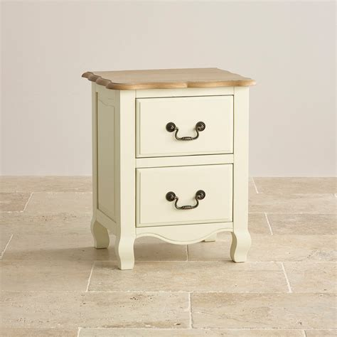 Bedside Drawers by Brushed Painted Oak 2 Drawer Bedside Cabinet