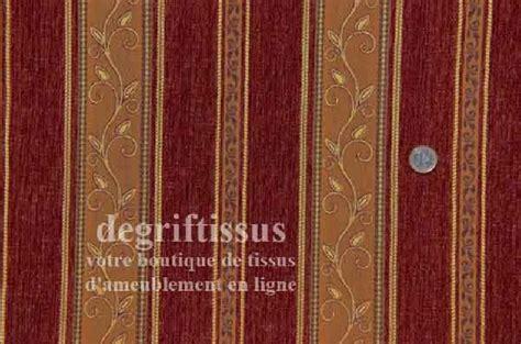 Tissu Tapisserie by Tissu Ameublement Tapisserie 224 Bandes Brique Et Orange
