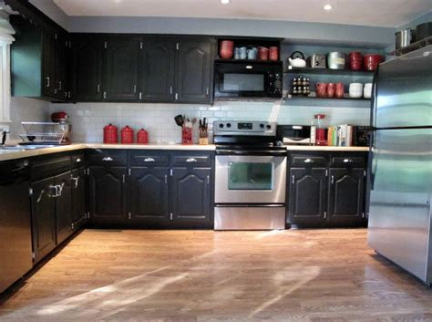 black painted kitchen cabinet ideas black painted kitchen cabinets home furniture design