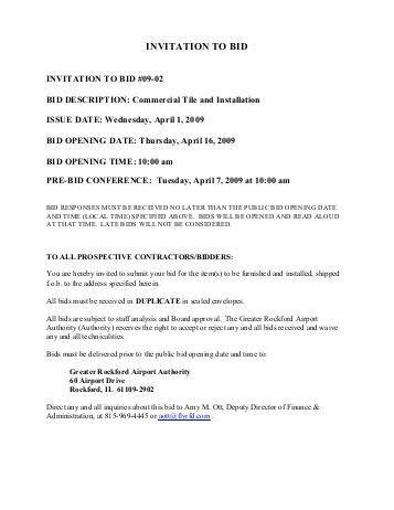 to bid invitation for bid pest services middletown