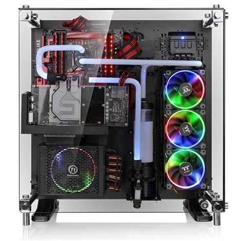 thermaltake tg 2 thermaltake p5 black tempered glass edition atx open