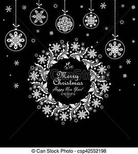Noel Noir Et Blanc : babioles vendange couronne no l noir pendre no l blanc carte ~ Melissatoandfro.com Idées de Décoration