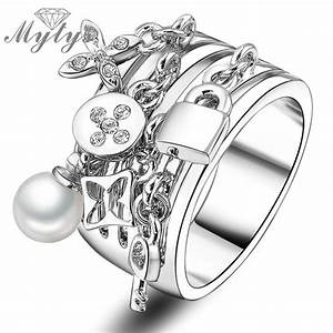 mytys 2017 new arrival fashion key ring pear and lock With locking wedding rings