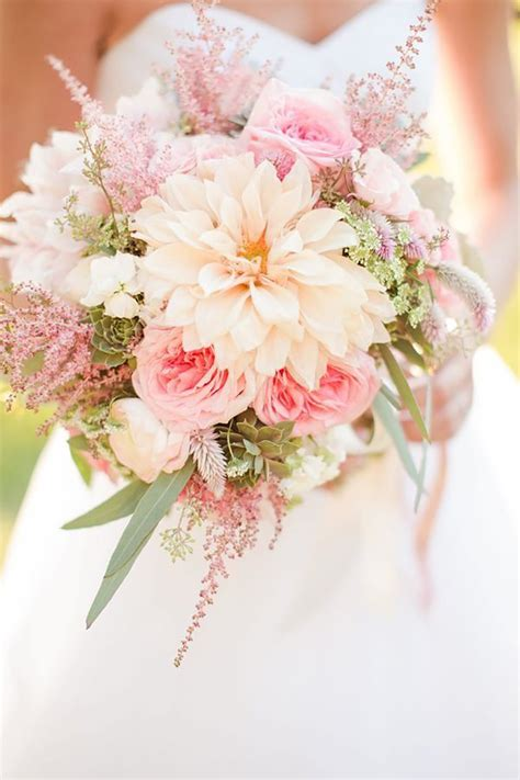 pastel pink wedding flowers chwv